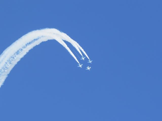 ブルーインパルス飛行展示